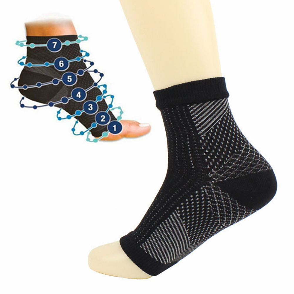 1 Pair Comfort Foot Anti Fatigue Compression Sleeve Relieve Swelling Varicosity Women Men Ankle Protection Socks Cycling Hiking