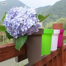 1 шт. цветок мостовой подвесной ящик для комнатных растений, горшки корыта забор панели, декоративные стеклянные панели рельс балкон подвесной ящик для комнатных растений, горшок