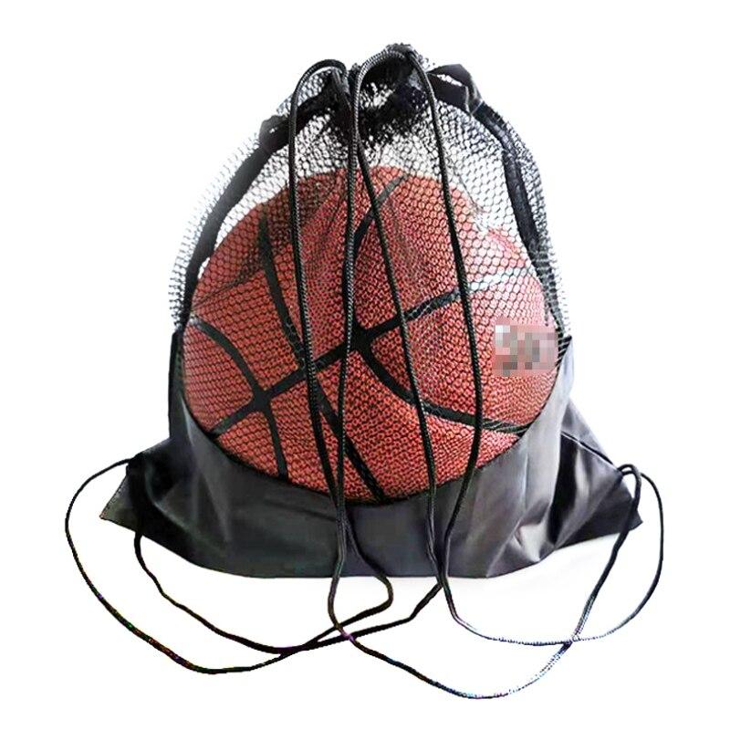 Портативная Сетчатая Сумка для футбола, рюкзак для хранения футбольных мячей-0