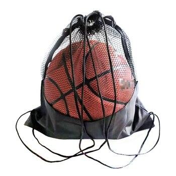 Портативная Сетчатая Сумка для футбола, рюкзак для хранения футбольных мячей