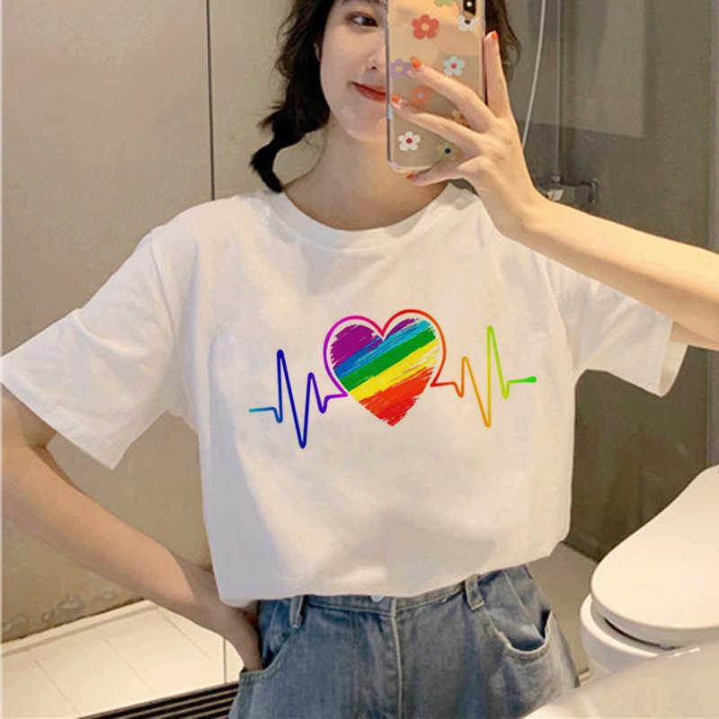 Mùa Hè Năm 2019 Bông Tai Kẹp Áo Phụ Nữ Đồng Tính Niềm Tự Hào Áo Thun Đồ Họa Đồng Tính Nữ In Áo Thun Nữ Phong Cách Hàn Quốc Top Nữ Teen