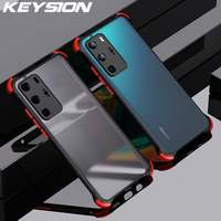 KEYSION-funda mate para Huawei P40 Pro, P50, P30 Lite, Y5P, Y6P, Y7P, Y8P, Y7A, Y9A, funda de teléfono a prueba de golpes para Honor 30 Pro + 30i 30S 9A S