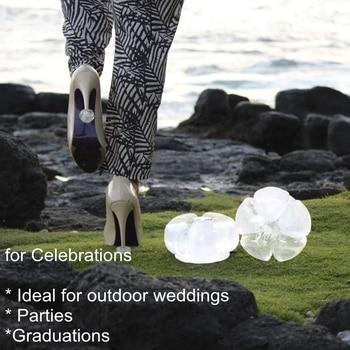 Aohaolee High Heel Stoppers Silicone Stiletto Heel Covers Antislip Women shoe Heel Protectors for Outdoor Weddings and Parties trendy iridescent color and stiletto heel design sandals for women