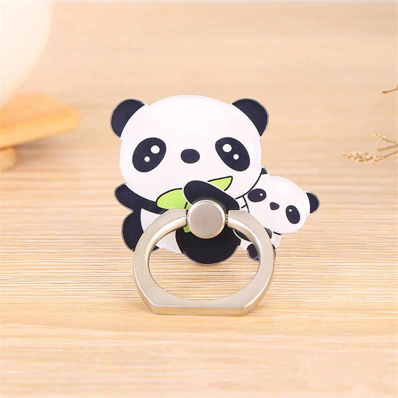 Beruang Panda Hewan Lucu Ponsel Stand Holder Cincin Smartphone Pemegang Kartun Berdiri untuk Xiaomi Huawei Semua Ponsel