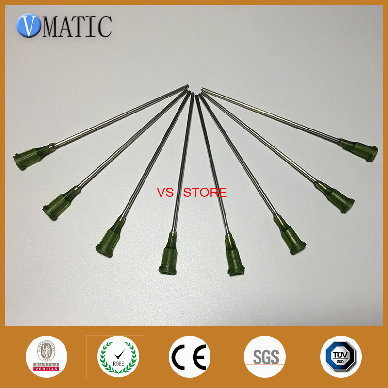 Free Shipping Quality 10Pcs 14G 10cm Length Dispensing Needle Tips 100mm
