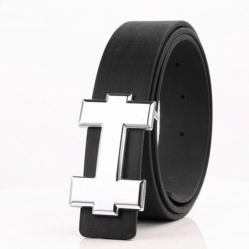 Luxury Designer H Brand Designer Belts Men High Quality Male PU Leather Women Belt Buckle Strap for Jeans Black size 105cm