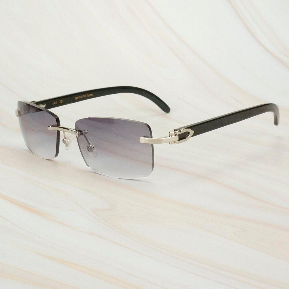 Fashion Black Sunglasses Men For Driving Buffalo Horn Sunglasses Women Shades For Outdoor Sun Glasses For Male Carter Fashion
