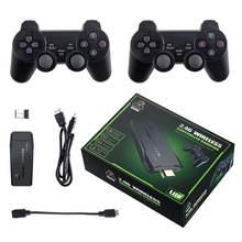 4k hd consoles portáteis console de jogos de vídeo com 2.4g controladores sem fio clássico jogo duplo jogador para ps1 playstation 1