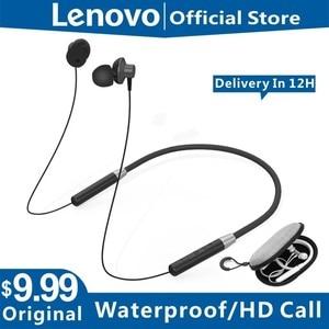 Original Lenovo HE05 Bluetooth 5.0 Neckband Wireless headphones Stereo Sports Magnetic Headphones Sports Running IPX5 Waterproof