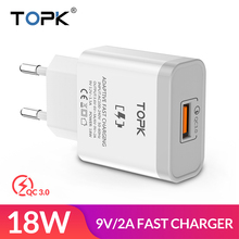 TOPK B126Q 18W Quick Charge 3.0 Fast Mobile Phone Charger EU