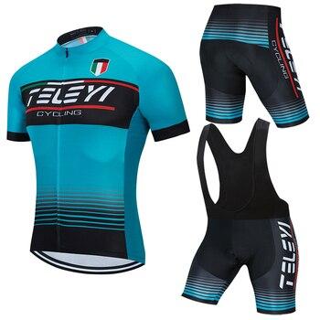 Mens Cycling Jersey 2020 Pro Team TELEYI Summer Clothing Quick Drying Set Racing Sport Mtb Bicycle Jerseys Bike Uniform
