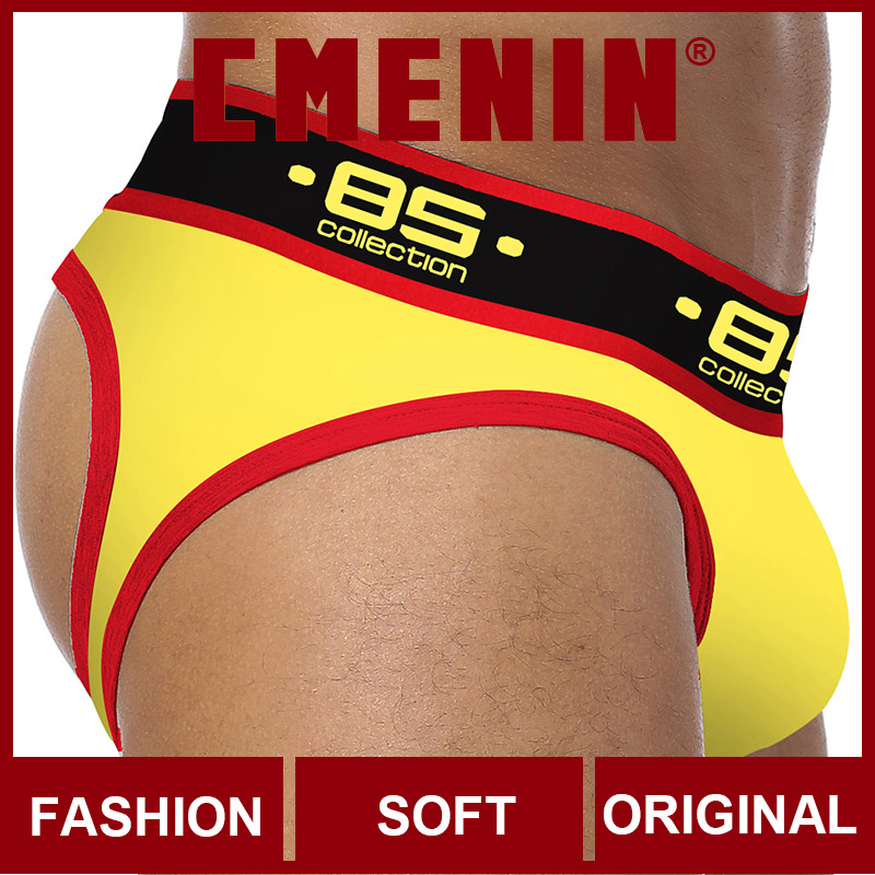 Ins Style LOGO Cotton Comfortable BS Gay Men Sexy Underwear Thong Men Jockstrap Men's Lingerie Mens Thongs And G Strings