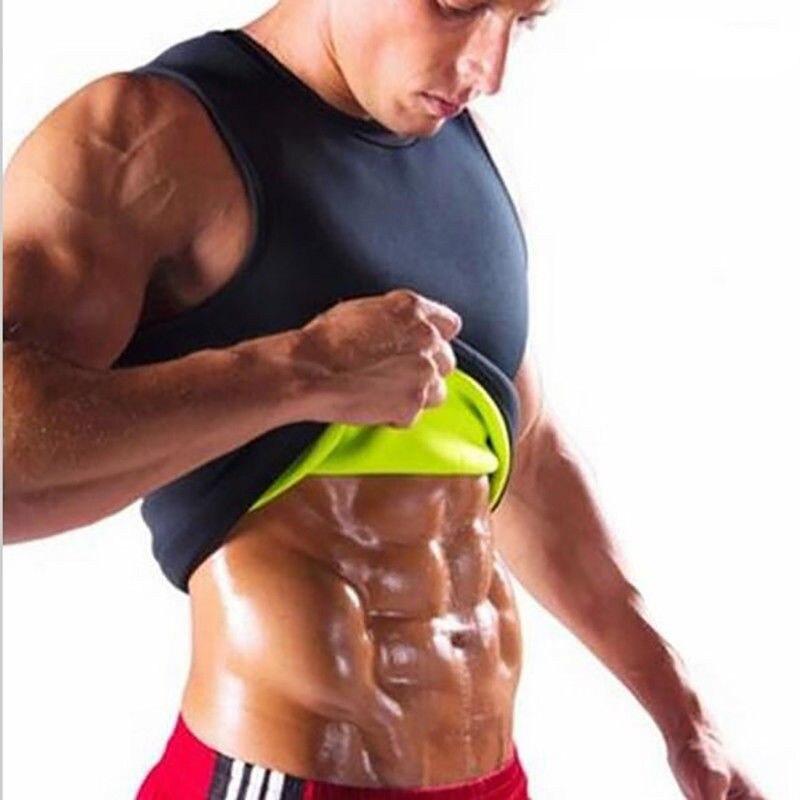 3XL Slimming Waist Belts Belly Men Slim Sweat Shirt Vest Body Shaper Neoprene Abdomen Fat Burning Shaperwear Corset