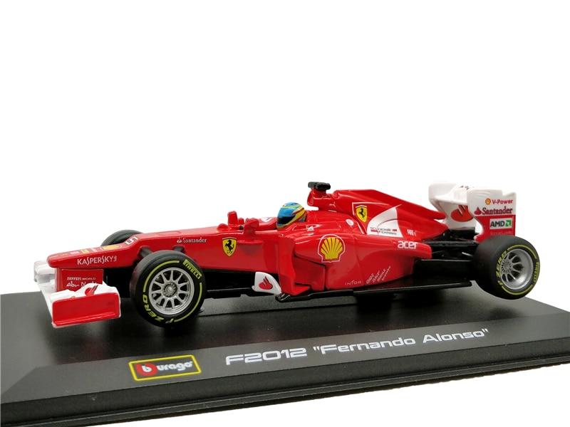 Bburago 1/32 1:32 Ferrari F2012 Fernando Alonso No5 F1 Formula 1 Racing Car Diecast Display Model Toy For Kids Boys Girls