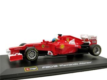 Bburago-coche de carreras Ferrari F2012, modelo de juguete con pantalla fundida para...