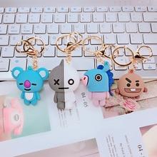 цена на Bts-Kpop Bts-Bangtan Acessorios Boys Bangtan keychain Cooky Kpop tata keychain Button Jewelry Key Ring Pendant Charm YLK004G