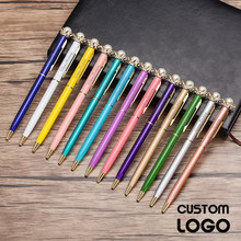 1pc Kawaii Pearl Crown Private Customized Logo Ballpoint Pen Free Lettering Student Stationery Gift Ball Pen Office Supplies Pen 1pc office supplies material tiny green grass ball pen blade grass ballpoint pen potting decoration zakka stationery caneta