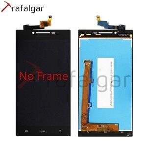 Image 2 - Trafalgar ЖК дисплей для Lenovo P70, сенсорный экран с дигитайзером для Lenovo P70, сенсорный экран с рамкой для Lenovo P70, сменный дисплей с рамкой, для P70 A