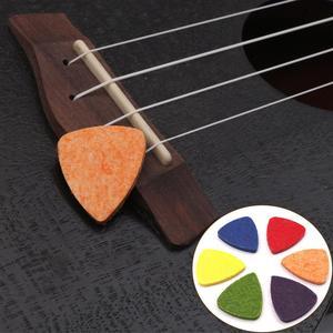 New arrival Colorful Necklace Guitar Pick Ukulele Wool Felt Picks Ukulele soft felt picks for Ukulele Banjor Guitar Accessories(China)