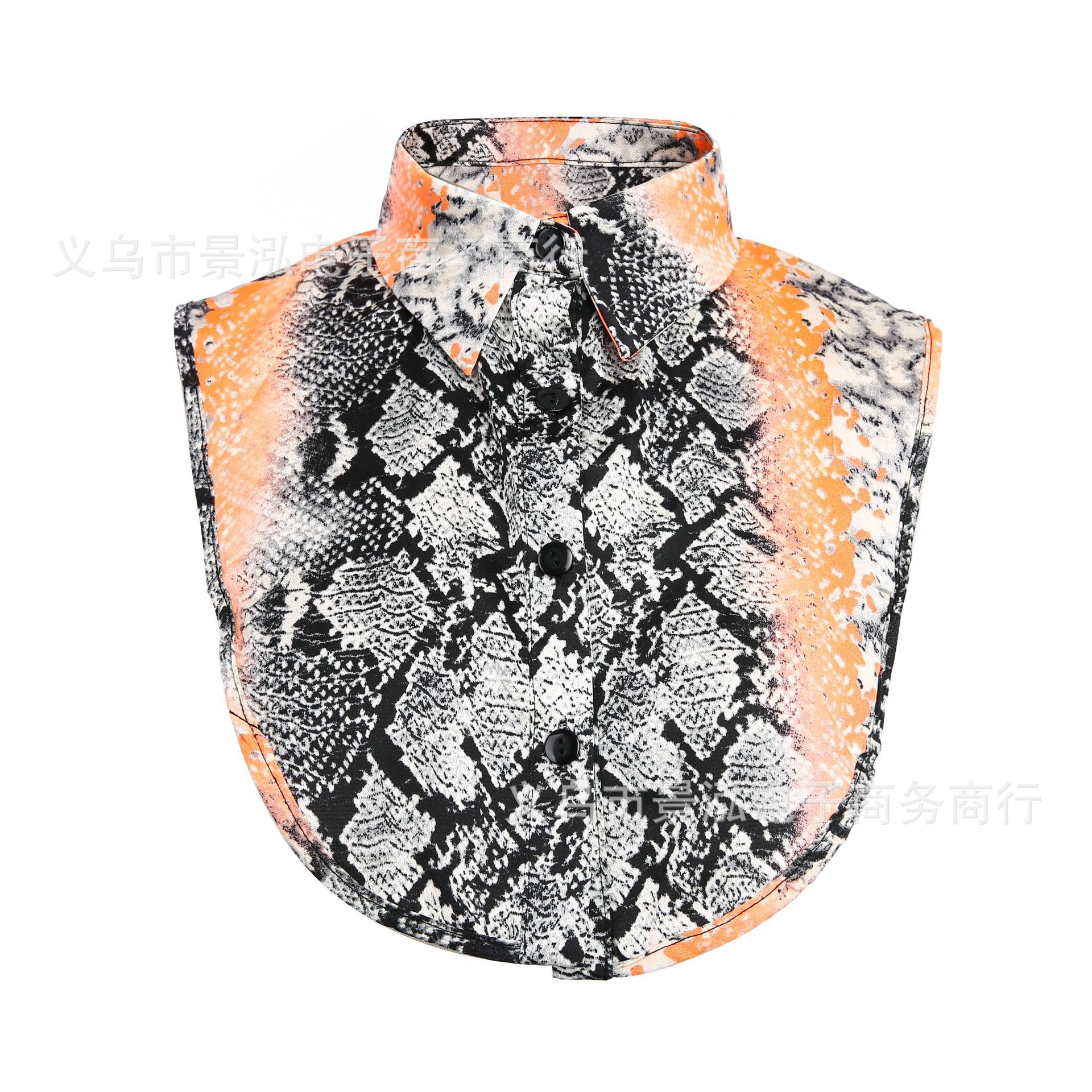 2019 Europe And America Snakeskin Gradient Color's Glitter Candy-Colored False Collar Collar Small Collar Small Clothes Small Un