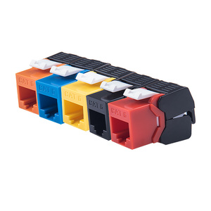 Gigabit Ethernet RJ45 CAT6 Colorful Keystone Jacks Toolless Type Network Modules Tool-free Connection 7 Colors For Optional(China)