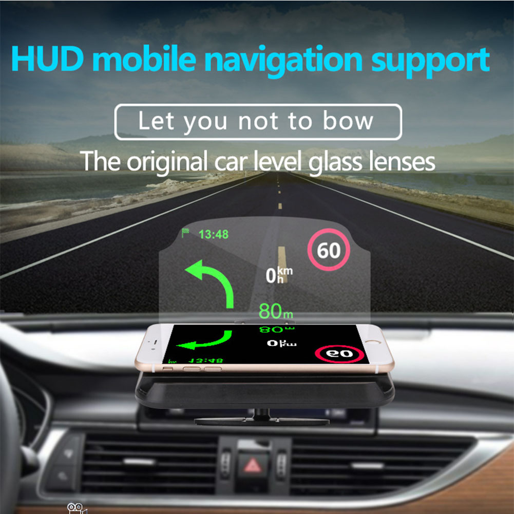 Smart Driving Car Safe Multifunction Head Up Display Portable Projector Speed Warning GPS Navigation Clear HD Phone Holder