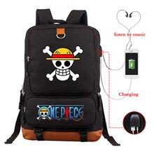 Japonya Anime seyahat sırt çantası tek parça Luffy gençler sırt çantası sırt çantası Harajuku keten bezi okul çantası sırt çantası Schoolbag Bookbag