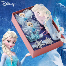 Disney Frozen Elsa Princess Comb Bow Hairpin Set Headwear Pretend Toy Korean Rubber Band Exquisite Decorations Gift For Girls