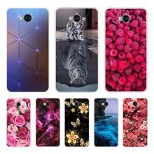 Для Huawei Y6 2017 / Y5 2017 Чехол для мобильного телефона из мягкого силикона чехол для Huawei Y5 2017 задняя крышка для Huawei Y6 2017 mya-l22 mya-u29 крышка