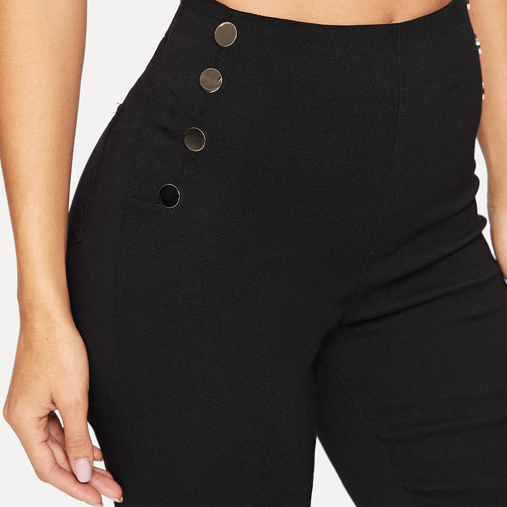 Women Black Pants Pencil 2020 Spring Fall Slim Office Ladies Female High Waist Trousers Pantalon Femme