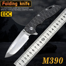 New M390 powder steel folding knife pocket rescue knife hunting knife camping combat knife survival knife special forces EDC