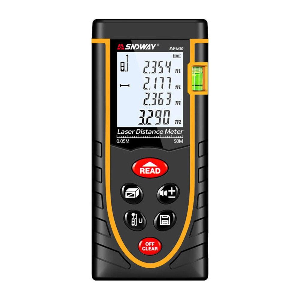 Laser Rangefinder 50M Laser Tape Rangefinder Built-in Measurement Digital Ruler Automatic Distance Measurement