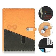 Cuaderno borrable inteligente A5, Memoria flash USB y carga inalámbrica reutilizable para escuela, suministros de oficina, conexión por aplicación, regalo de dibujo