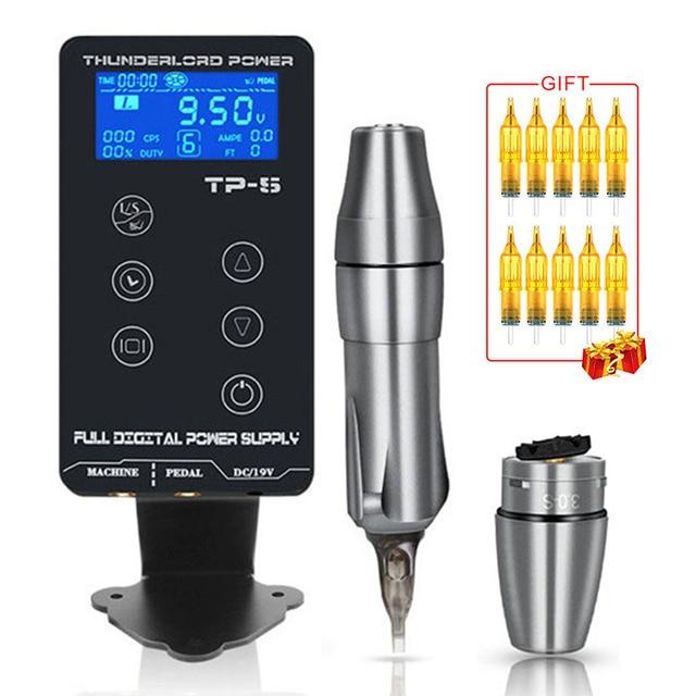 TP 5 Touch Screen Professional Tattoo Power SupplyชุดอัพเกรดPower SupplyจอแสดงผลLCDแบบดิจิตอลTattoo Power Supply