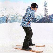TWTOPSE/Детские лыжные штаны водонепроницаемые теплые ветрозащитные детские штаны для сноубординга комбинезоны нагрудник снег зимние штаны для девочек и мальчиков