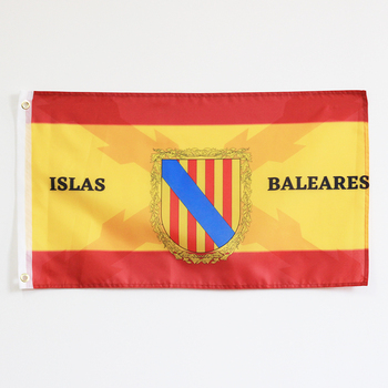 Spain Flag with the Cross of Burgundy Cross of San Andres Spanish Tercios Spanish Army Police balearic islands ibiza mallorca image