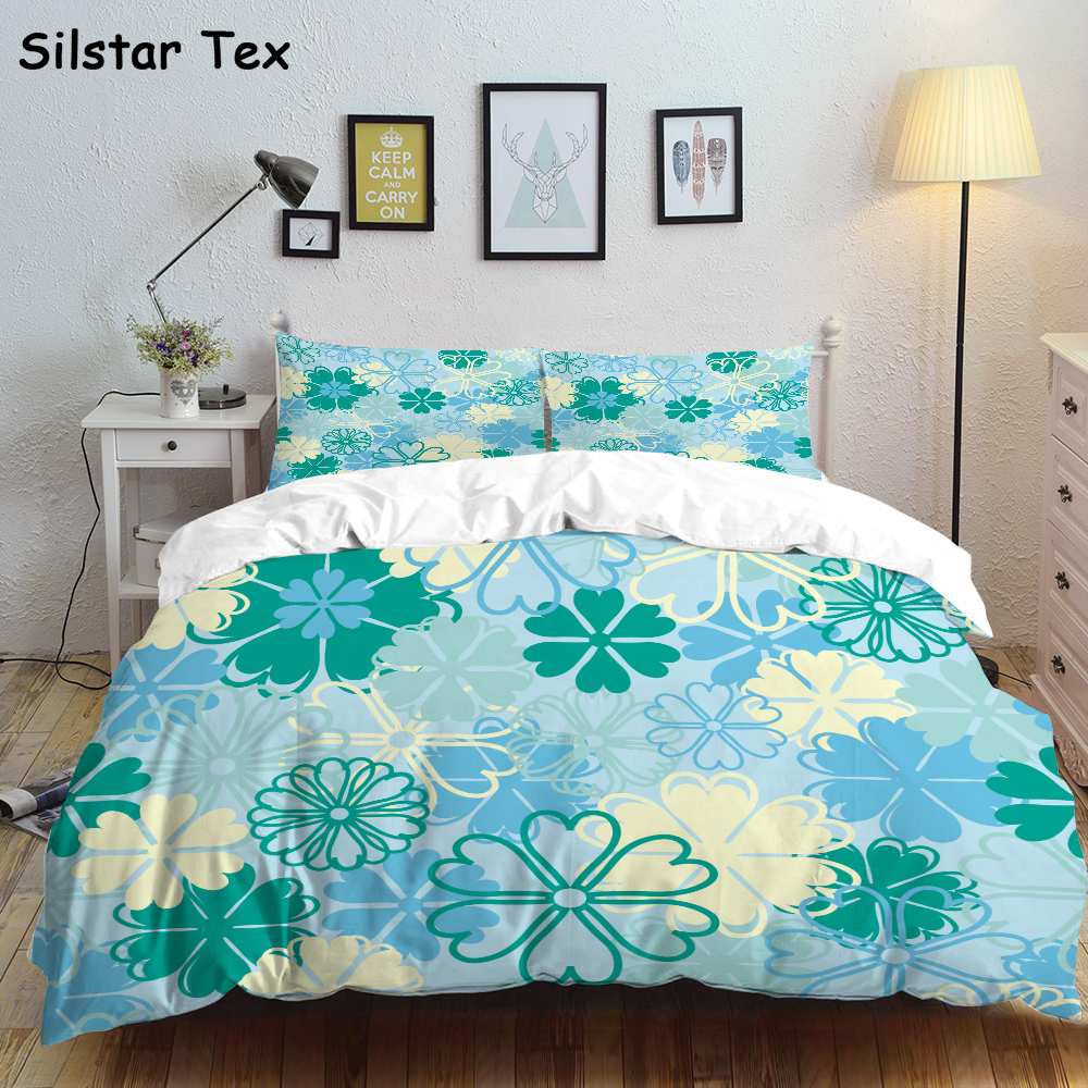 Silstar Tex Refreshing Flowers Bedding Set Kids Baby Fluffy Bed Cloth Duvet Crib College Twin Hotel Sheet Man Queen Size Cover Bedding Sets Aliexpress