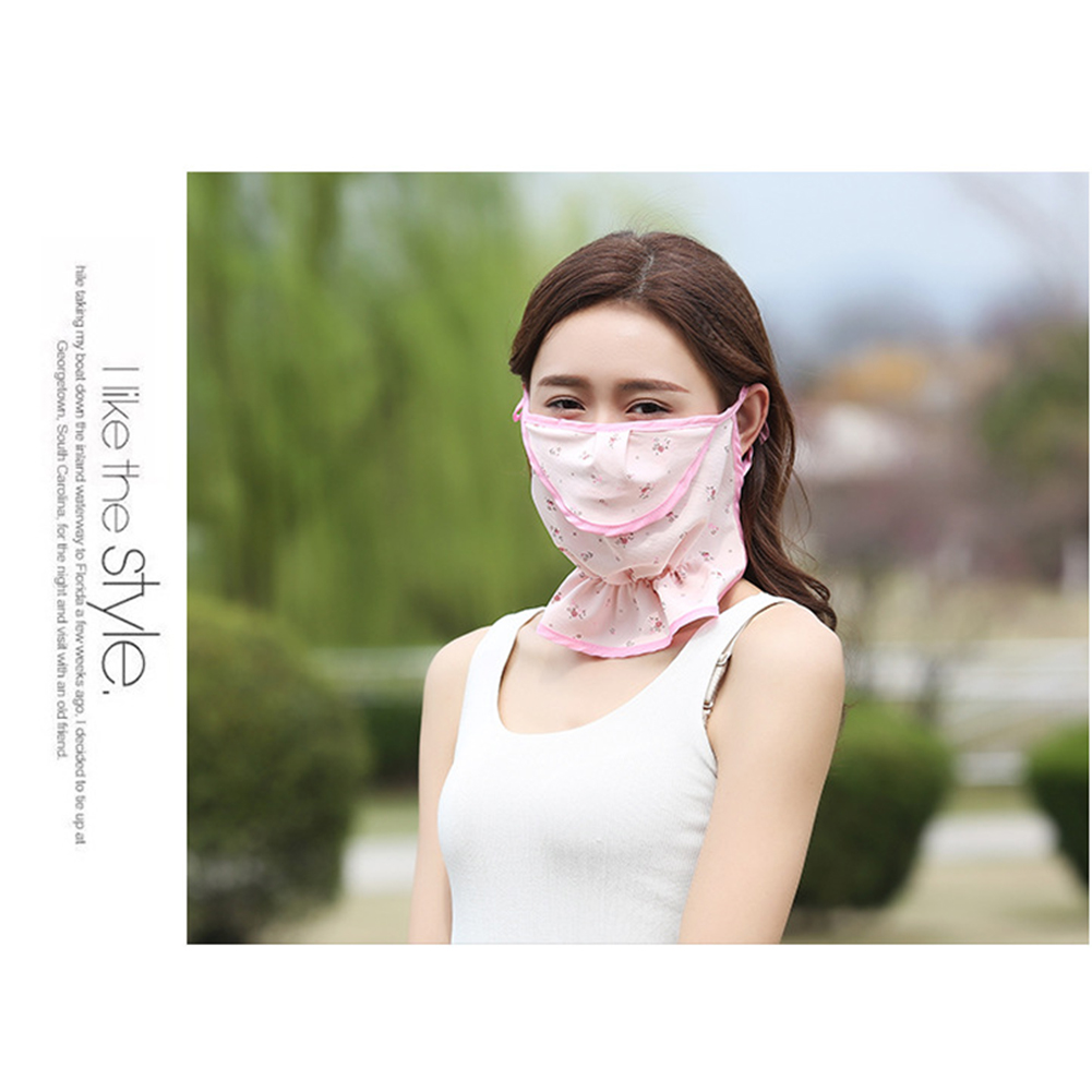 Print Sun Protection Summer Face Outdoor Practical Mouth Mask Anti Dust Riding Lightweight Ice Silk Fashion Floral
