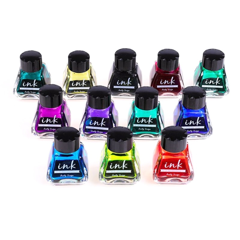 1 Bottle Pure Colorful 30ml Fountain Pen Ink Non-carbon Refilling Inks Student Stationery School Office Supplies