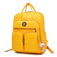 Fashion Woman Backpack Waterproof Laptop Backpack Nylon Soft Handle Solid Multi-pocket  Female School Bags Mochila Feminina