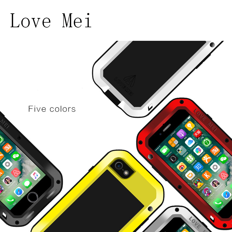 For Apple iPhone 7 Protective Case LOVE MEI Powerful Dirtproof Shockproof Aluminum Metal Case For iPhone 7 Plus Back Case
