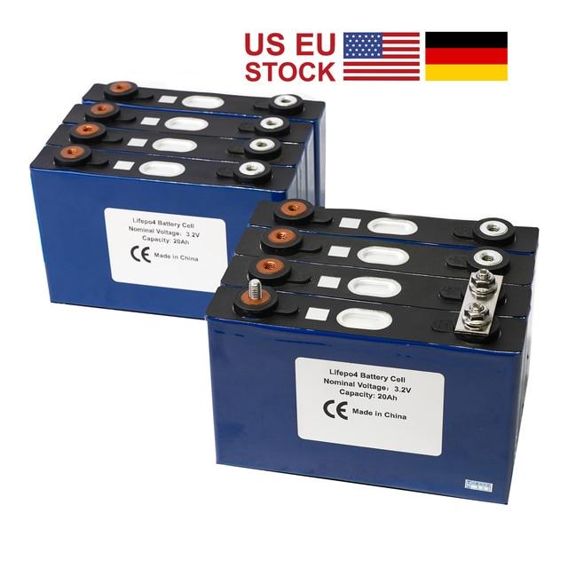 8 sztuk Lifepo4 baterii 3.2v 20ah 200A wysoki prąd rozładowania komórki dla Electrice Bike Motor Pack Diy lokalny magazyn w usa i ue