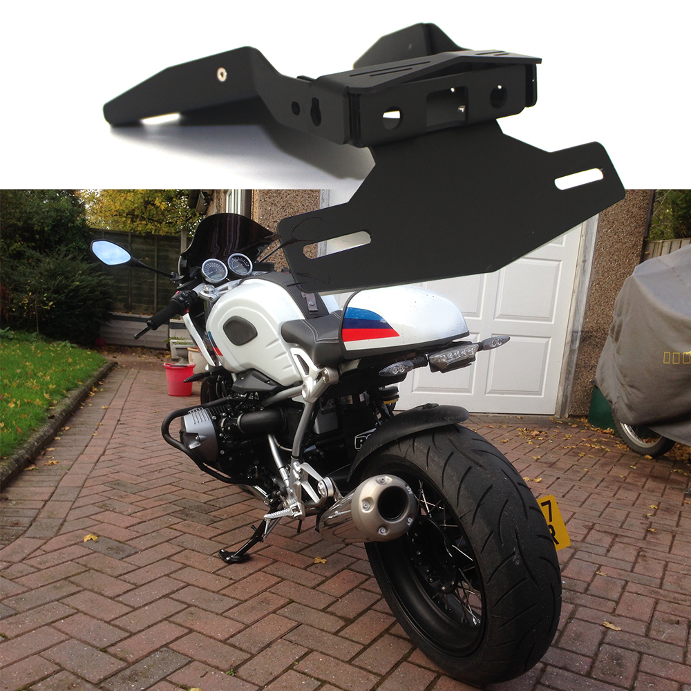 For BMW R NINET NINE T 9T Racer Scramble Urban R9T 2014-2019 Motorcycle Tail Mount License Plate Bracket Rear Holder Accessories