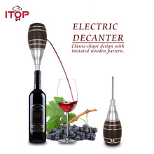 ITOP Electric 6 Seconds Of Decanting Plastic Bucket Shape Kitchen Use Wine Decanter IT-AP1018 itop handmade household red wine decanter wood decanter 6 seconds wine processors with battery