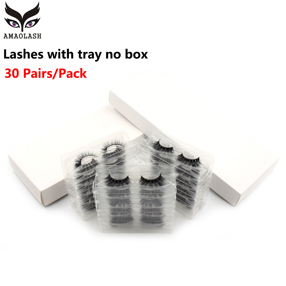 AMAOLASH <font><b>30</b></font> <font><b>Pairs</b></font>/Lot 3D Mink False <font><b>Eyelashes</b></font> Cruetly Free Fake Lashes Fluffy Volume Lashes Makeup image