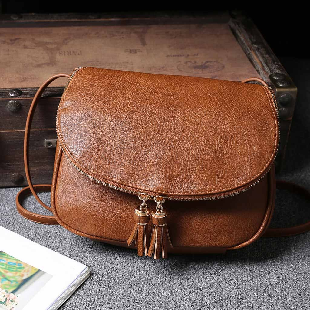 Hot Sale Tassel Women Bag Leather Handbags Cross Body Shoulder Bags Fashion Messenger Bag Women Handbag™