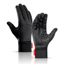 Mens Unisex Leather Gloves Touch Screen Thinsulate Lined Dri