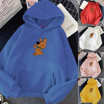 Sweatshirts Women With Hood Hoodies Ladies Long Sleeve Casual Hooded Oversized Pullovers Carton Printed Streetwear Leisure Tops women oversized sweater and pullovers oneck sweet heart letters printed pull jumpers long sleeve pink streetwear knit tops