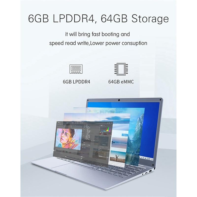 Jumper EZbook S5 14.0 Inch Laptop Apollo N3350 6GB DDR4L+64GB eMMC Windows 10 1920*1080 FHD Ultrathin Notebook 3
