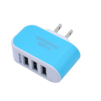 3 Ports USB Charger Fast Charging Portable Wall Charger Candy Color Phone Charger Adapter Universal for Mobile Phone image